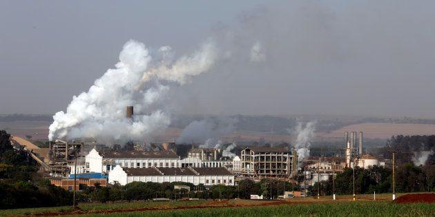 L'usine de sucre de Sao Martinho, à Pradopolis au Brésil, le 13 septembre