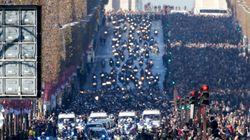 L'impressionnant cortège de motards sur les Champs-Élysées pour Johnny