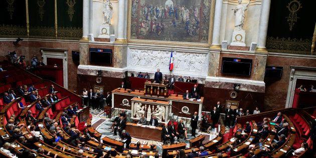 Pris de vue de l'hémicycle lors du discours de Richard Ferrand au mois de septembre. Photo d'illustration....