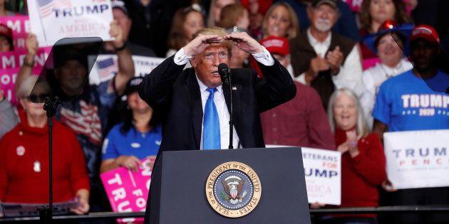 Donald Trump en meeting de campagne à Charlotte, en Caroline du