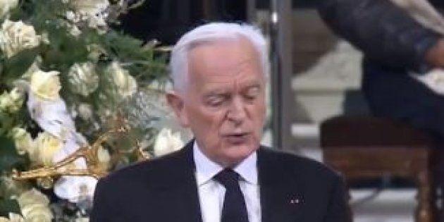 Philippe Labro lors de son hommage à Johnny Hallyday à Paris le 9 décembre