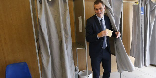 Gilles Simeoni, leader des nationalistes, lors du premier tour de