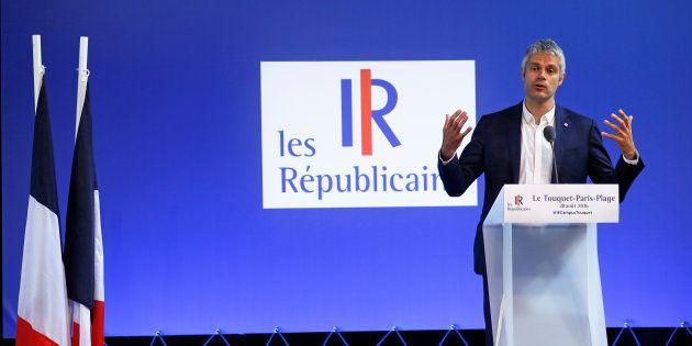 Laurent Wauquiez à l'université d'été des Républicains au Touquet le 28