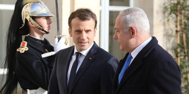 En compagnie de Netanyahu, Macron