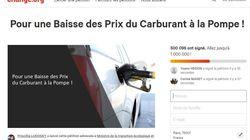 Une pétition contre la hausse des prix du carburant dépasse les 500.000
