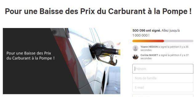 La pétition de Priscilla Ludosky sur Change.org demandant une baisse des prix des carburants a dépassé...