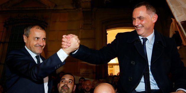 Gilles Simeoni et Jean-Guy Talamoni, les deux grands vainqueurs des élections territoriales en