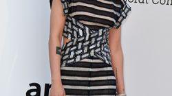 Kristen Stewart, en rayures et rock pour le gala de l'amfAR à