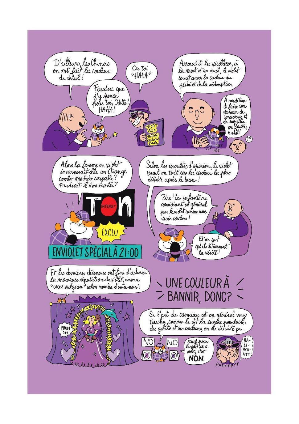"""Le violet, comme vous ne l'avez jamais lu dans """"Des idées dans la garde-robe""""."""