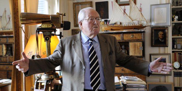 Le président d'honneur du Front national Jean-Marie Le
