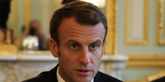 Emmanuel Macron à l'Elysée le 29