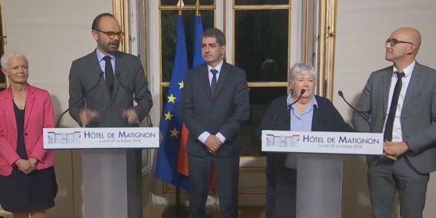 Edouard Philippe et tous les acteurs de l'accord sur