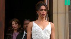 Meghan Markle a déjà porté une robe de mariée à l'écran, la