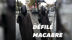 Deux faucheuses descendent les Champs-Élysées (mais ce n'est pas pour