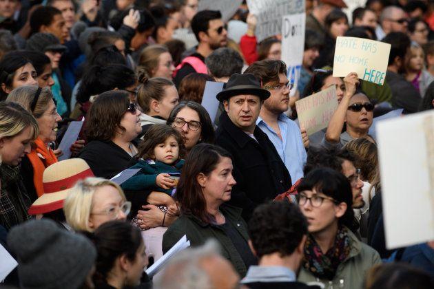 Manifestation contre la venue de Trump à