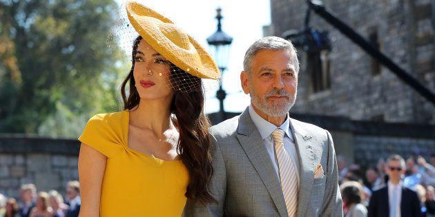 Amal Clooney et George Clooney au mariage du prince Harry et de Meghan