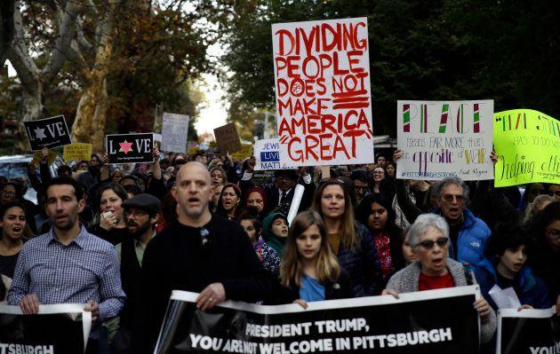 La mobilisation anti-Trump à Pittsburgh en
