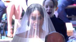 Ce petit garçon est l'enfant star du mariage