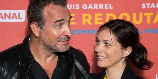 Jean Dujardin et Nathalie Pechalat pour la première du film 'Le Redoutable' en septembre