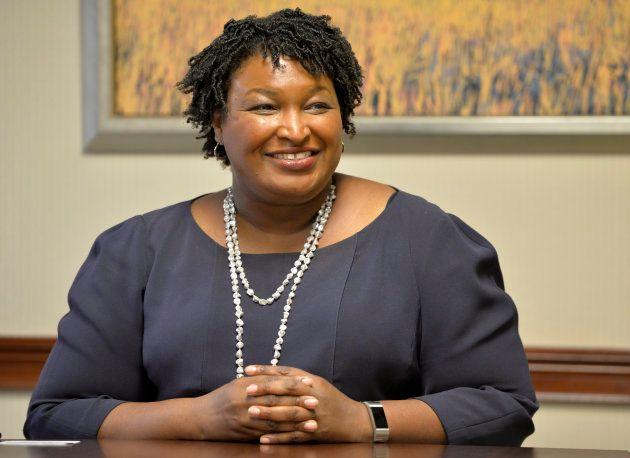 La candidate démocrate Stacey Abrams en Géorgie le 17