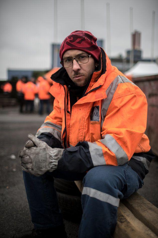Nicolas, 34 ans dont 14 passés à l'usine. Saint-Saulve (59), le 27 octobre