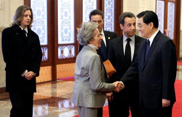 Andrée Sarkozy avait accompagné son fils en Chine en