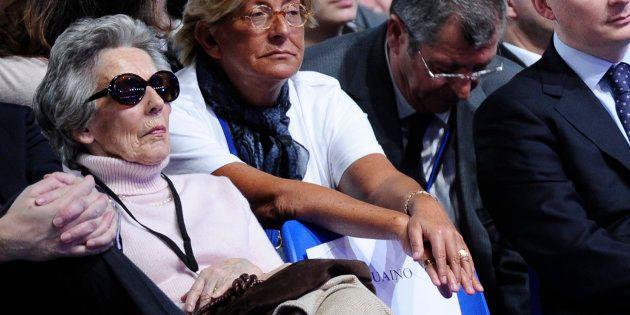 Andrée Sarkozy, ici en 2012 au premier rang d'un meeting de son fils Nicolas Sarkozy, est
