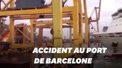 Les images spectaculaires de l'accident de ferry au port de
