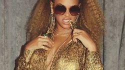 Beyoncé toute d'or vêtue pour assister à un match de basket avec