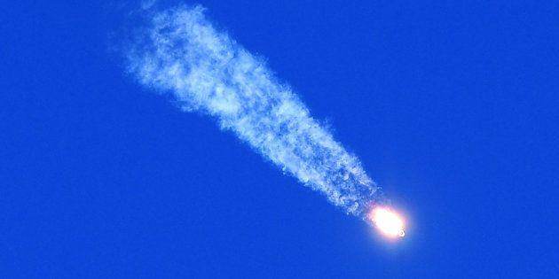 Le lancement de la fusée Soyouz censée rejoindre la Station spatiale internationale, le 11 octobre