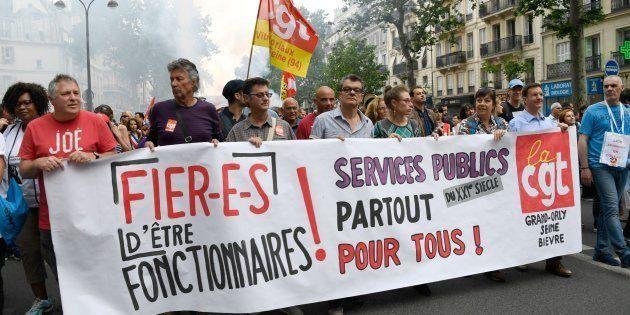 Manifestation à Paris le 22 mai 2018 pour la défense du service