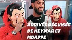 Mbappé et Neymar arrivent au stade déguisés en braqueurs de la Casa de