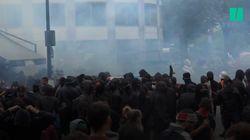 Les images des échauffourées en marge de la manifestation des