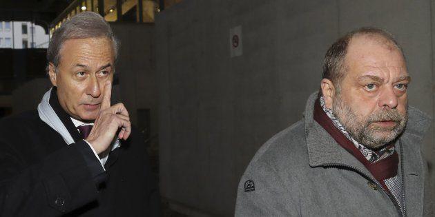 Georges Tron et son avocat Eric Dupond-Moretti, le 12 décembre au tribunal de