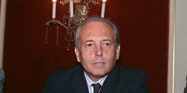 Alain Chevalier lors d'une assemblée générale extraordinaire de LVMH à Paris le 22 septembre