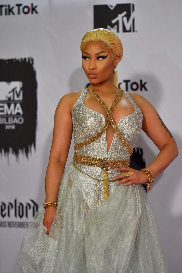 Nicki Minaj en Méduse aux MTV Europe Music Awards