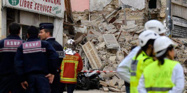 Deux immeubles se sont effondré en plein centre de Marseille, rue d'Aubagne, ce lundi 5 novembre au