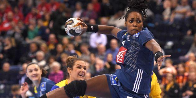 Laurisa Landre lors de Suède-France le 15 décembre