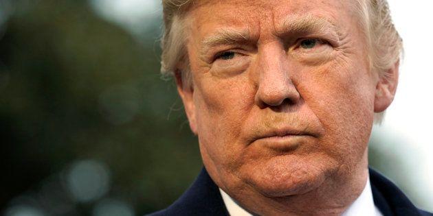 Donald Trump à la Maison Blanche le 15