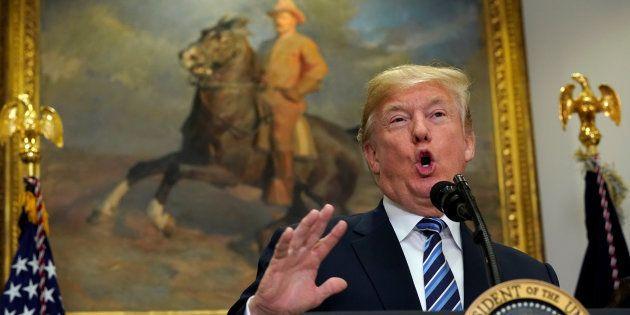 Donald Trump à la Maison Blanche le 14