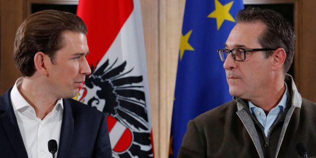En Autriche, droite et extrême droite lancent leur coalition dans un lieu très