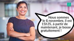 À partir de mardi 6 novembre 15h35, les femmes travaillent