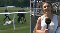 Cette présentatrice anglaise arrête un cheval au galop en plein