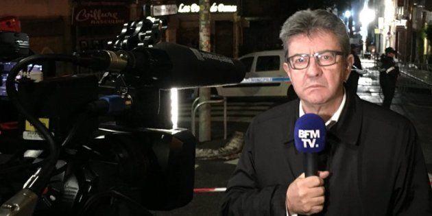 Jean-Luc Mélenchon, député de la circonscription où plusieurs immeubles se sont effondrés ce 5 novembre,...