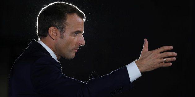 Le président Emmanuel Macron, qui enchaîne les déplacements dans les territoires comme ici à Pont-à-Mousson,