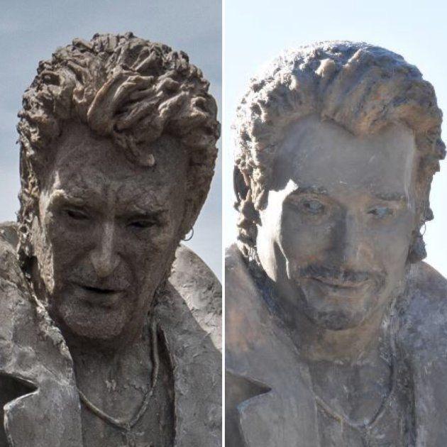La statue de Johnny Hallyday avant /