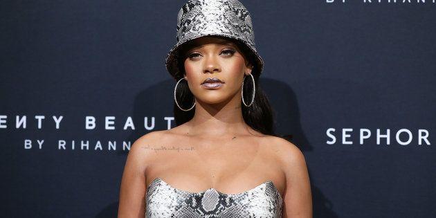 Rihanna à l'anniversaire événement de sa