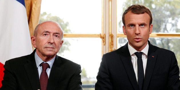 Emmanuel Macron et son ministre de l'Intérieur Gérard
