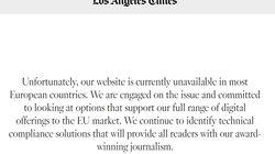 Plusieurs médias américains deviennent inaccessibles eu Europe avec la mise en place du