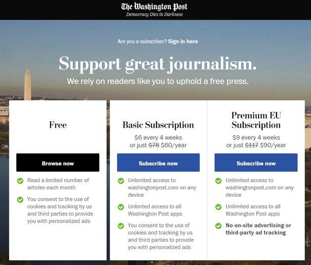 La mise en place du RGPD contraint certains médias américains à bloquer leur accès en